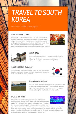 TRAVEL TO SOUTH KOREA