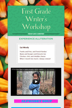 First Grade Writer's Workshop