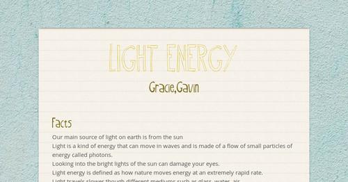 LIGHT ENERGY | Smore Newsletters