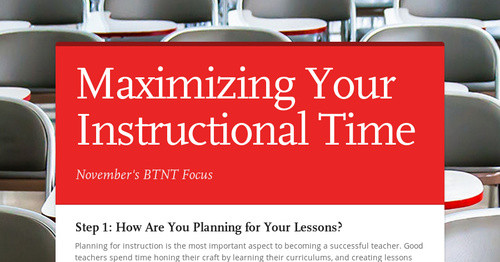 Maximizing Your Instructional Time Smore Newsletters