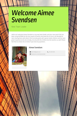 Welcome Aimee Svendsen