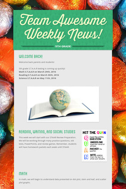 Team Awesome Weekly News!