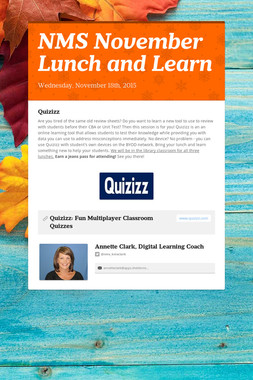 NMS November Lunch and Learn