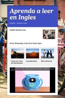 Aprenda a leer en Ingles