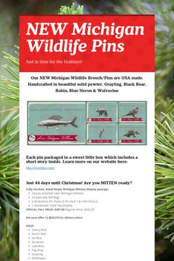 NEW Michigan Wildlife Pins