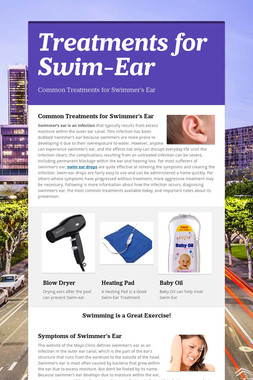 Treatments for Swim-Ear