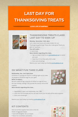 Last Day for Thanksgiving Treats