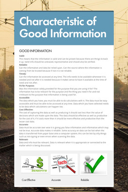 Characteristic of Good Information