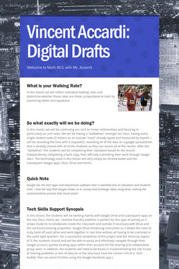 Vincent Accardi: Digital Drafts