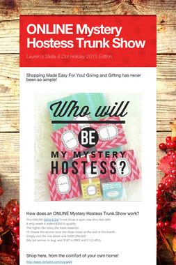 ONLINE Mystery Hostess Trunk Show