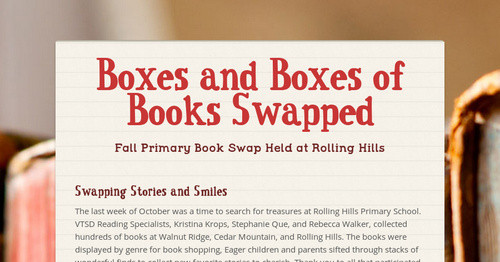 Boxes and Boxes of Books Swapped | Smore Newsletters