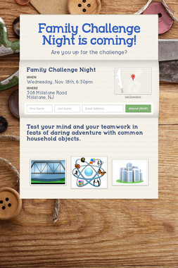 Family Challenge Night is coming!