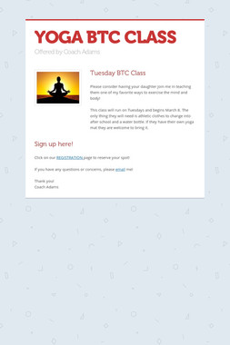 YOGA BTC CLASS