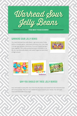 Warhead Sour Jelly Beans