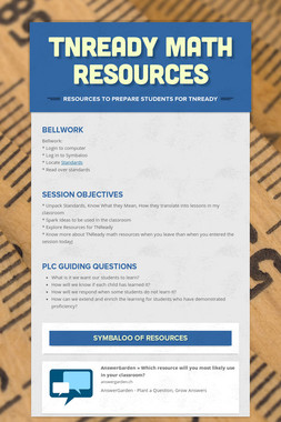 TNReady Math Resources