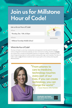 Join us for Millstone Hour of Code!
