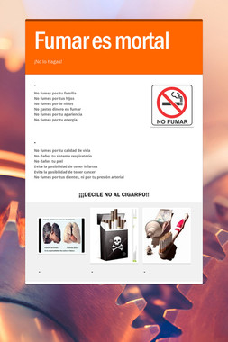 Fumar es mortal