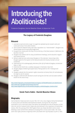 Introducing the Abolitionists!