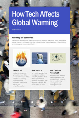 How Tech Affects Global Warming