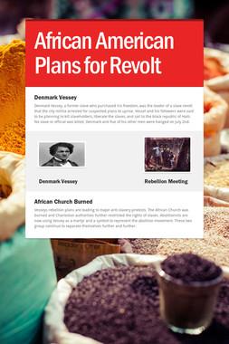 African American Plans for Revolt