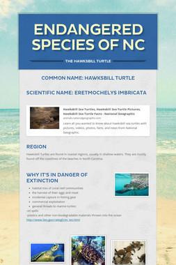 Endangered Species of NC