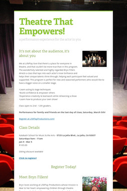 Theatre That Empowers!