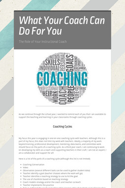 What Your Coach Can Do For You