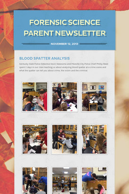 Forensic Science Parent Newsletter