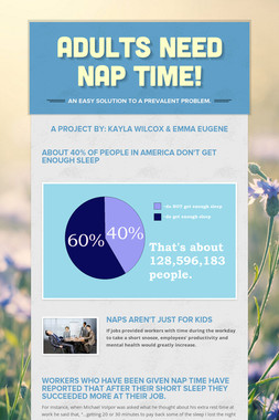 Adults Need Nap Time!