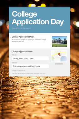 College Application Day