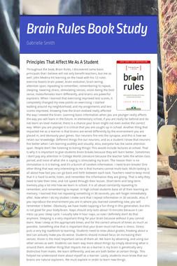 Brain Rules Book Study