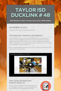 Taylor ISD DuckLink # 48
