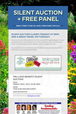 Silent Auction + FREE Panel