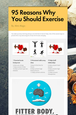 95 Reasons Why You Should Exercise