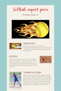 Softball expert piece