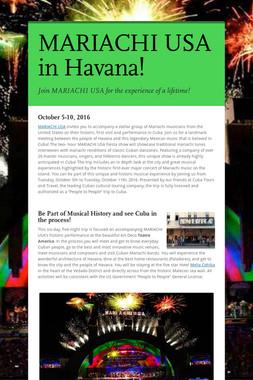 MARIACHI USA in Havana!