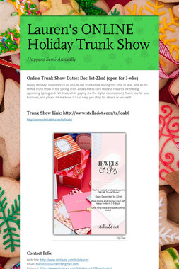 Lauren's ONLINE Holiday Trunk Show