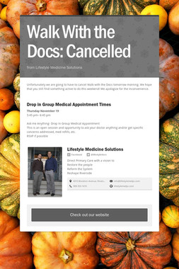 Walk With the Docs: Cancelled