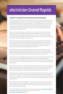 electrician Grand Rapids