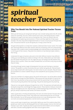 spiritual teacher Tucson