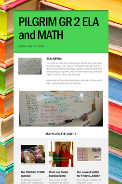 PILGRIM GR 2 ELA and MATH