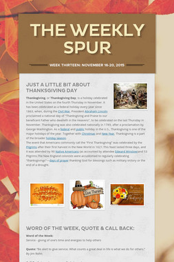 The Weekly Spur