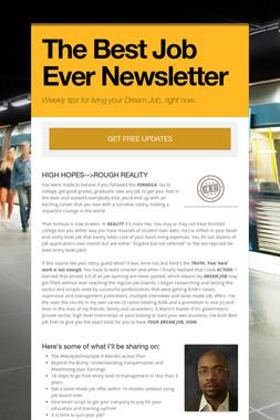 The Best Job Ever Newsletter