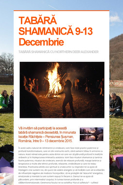 TABĂRĂ SHAMANICĂ 9-13 Decembrie