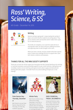 Ross' Writing, Science, & SS