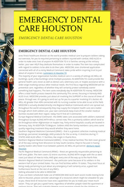EMERGENCY DENTAL CARE HOUSTON