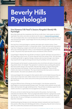 Beverly Hills Psychologist