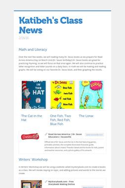 Katibeh's Class News