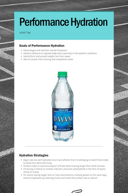 Performance Hydration