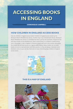 Accessing  Books In  England